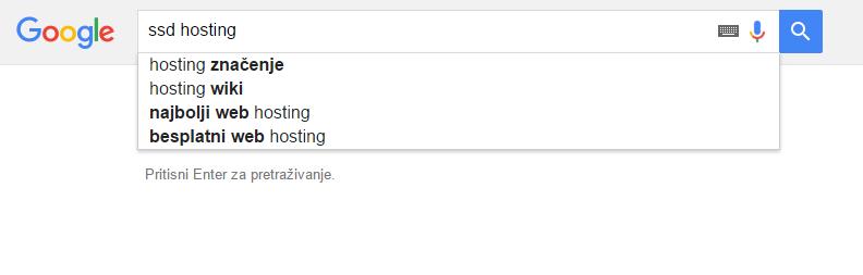 Pretraživanje ključnih riječi Google autocomplete tehnikom